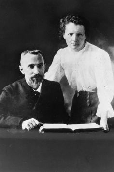 Pierre Curie and Marie Sklodowska Curie were jointly awarded the Nobel Prize for Physics in 1903 for discovery of the radioactive elements polonium and radium. Marie Curie, Marie And Pierre Curie, Important People, Good People, Radium Girls, Nuclear Medicine, Television Program, Nobel Prize, Science And Nature