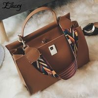 Ellacey Women PU Casua Handbags For Ladies Hand Bags Shoulder Woman Luxury Tote Handbag Womens Hand Bags Designers Lock Hasp