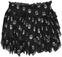 White skull skirt