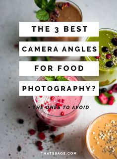 The 3 Best Camera Angles for Your Food Photography (+ What to Avoid!) - - The camera angles you use have just as much impact on your food photography as the rest of your food styling. Learn which ones you should use and avoid. Dslr Photography Tips, Food Photography Props, Photography Lessons, Digital Photography, Product Photography, Photography Lighting, Photography Awards, Photography Composition, Indoor Photography