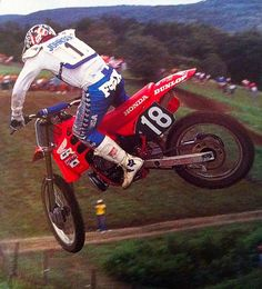 """Ricky Johnson. Seven AMA national championships and part of four winning U.S. Motocross des Nations teams. 61 AMA national wins. Championships in AMA SX and both 250 and 500 MX. Retired as all-time SX wins leader (a record later broken by Jeremy McGrath). Career cut short due to injuries, forcing him into retirement at age 26. His racing style and determination matched with his off-track outspokenness earned him the nickname """"Bad Boy."""""""