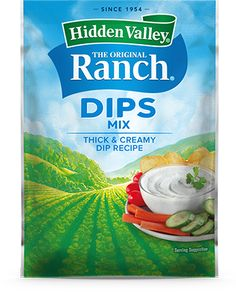 Homemade Spicy Chipotle Ranch   Hidden Valley® Ranch Ranch Dip, The Ranch, Hidden Valley Recipes, Dates, Ranch Seasoning Mix, Hidden Valley Ranch, Ranch Recipe, Homemade Ranch, Ranch Chicken