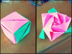 How to Make an Origami Rose Box