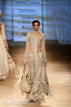 Rimple & Harpreet Narula designer suit in sheer material