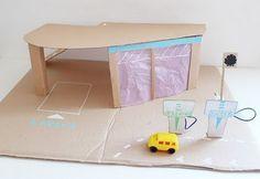 cardboard play garage.
