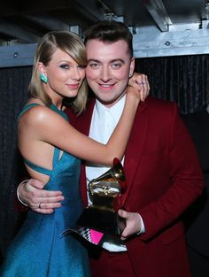 Pin for Later: These Can't-Miss Grammys Moments Weren't on TV Taylor Swift and Sam Smith