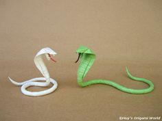 Realistic Origami Snake - http://www.ikuzoorigami.com/realistic-origami-snake/