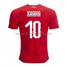 Billige Sveits Drakt VM 2018 Xhaka 10 Kortermet Hjemme Fotballdrakter