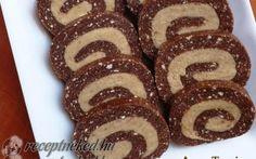 Cappuccinokrémes keksztekercs recept fotóval Gingerbread Cookies, My Recipes, Doughnut, Biscuits, Muffin, Food And Drink, Snacks, Breakfast, Cake