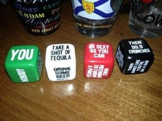 Dice drinking game… I WANT!!