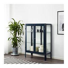 IKEA FABRIKÖR glass-door cabinet Adjustable feet; stands steady also on an uneven floor.