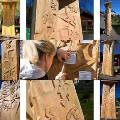 Dřevořezba - Keltský kalendář