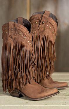 Fringe Cowboy Boots ❤︎