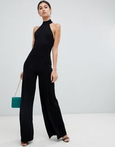 Browse online for the newest ASOS DESIGN halter neck jumpsuit styles. Shop easier with ASOS' multiple payments and return options (Ts&Cs apply). Jumpsuit Dressy, Jumpsuit Outfit, Bodycon Jumpsuit, Sweat Shirt, Jumpsuits For Women, Rompers Women, Leotard Tops, Wonder Woman, Womens Bodysuit