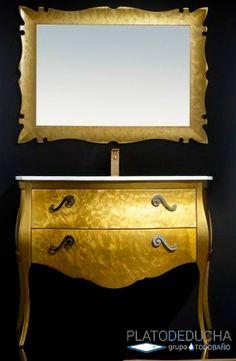 Mueble de Baño Paris con inspiración clásica y un acabado en oro que le aporta mucha distinción Furniture, Home Decor, Bathroom Furniture, Gold, Decoration Home, Room Decor, Home Furnishings, Home Interior Design, Home Decoration