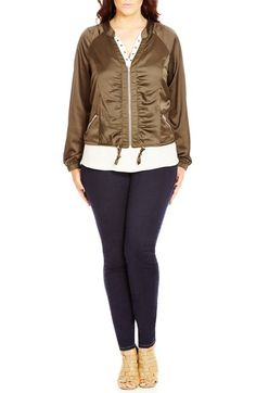 City Chic 'Jungle Heat' Jacket (Plus Size) available at #Nordstrom