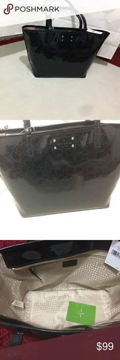 Kate spade small harmony Black Metro Spade Tote 100% Authantic new with tag kate spade Bags Totes