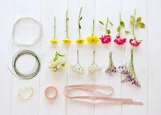 La chica de la casa de caramelo: DIY: Corona de flores naturales