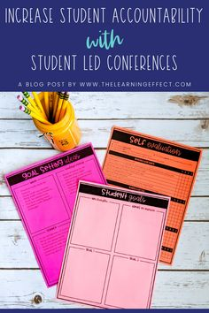 Increase accountability in your classroom with student led conferences. Learn three ways to use student led conferences to empower your students to take responsibility for their academics, behavior, and work habits. When students buy-in and have a say in their progress and goals, not only will their productivity increase, but your classroom management will improve, too! FREE SMART goal pennants are included in this article for upper elementary teachers. #thelearningeffect
