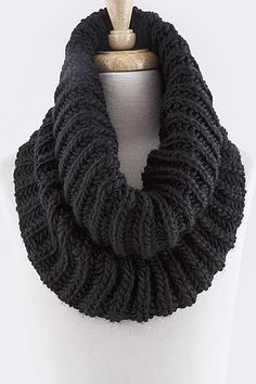 Aubrey is your chameleon. She can rock classic, preppy, punk or hippie with the simplest of ease. The Aubrey Chunky Knit Infinity Scarf will keep you warm this winter, no matter what your personal sty