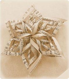 music sheet star ornament