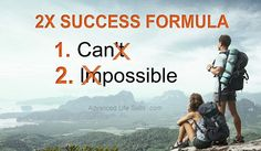 life lessons from the 2X success formula