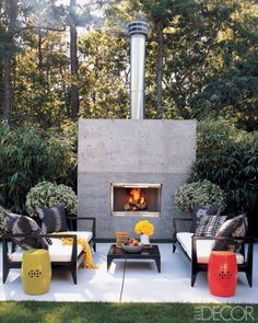 Cozy outdoor seating area