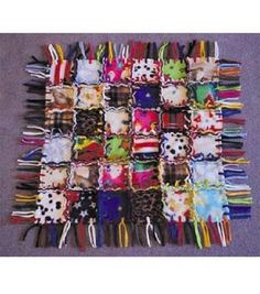 patchwork fleece blanket instructions