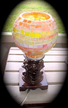 Mosaic Stained Glass Lamp skin enhancing pastel by MosaicsofGlass