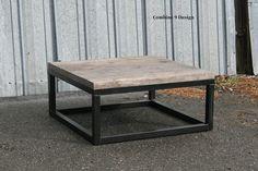 Reclaimed Wood Coffee Table. Vintage Industrial Industrial. Modern. Urban. Loft Decor. Steel. Minimalist. Made to order. Mid Century. Rustic...