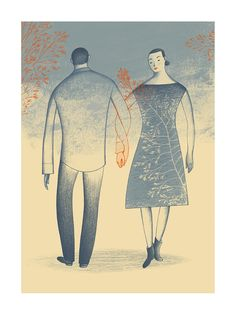 Couple by Marie Lafrance - Toi Gallery Black And White Lines, Presents For Her, Affordable Wall Art, Image Makers, Digital Collage, Botanical Illustration, Pretty Pictures, Life Is Beautiful, Giclee Print