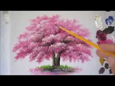 Video by Acrylic Painting Techniques Learn how to paint a Pink flowering tree in Acrylic, the artist used the Pebeo paints on the smooth canvas x 40 cm) Acrylic Painting Trees, Abstract Painting Techniques, Simple Acrylic Paintings, Acrylic Painting Tutorials, Painting Videos, Painting Lessons, Pink Flowering Trees, Unique Drawings, Painting Art