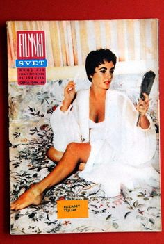 ELIZABETH TAYLOR COVER 1963 VERY RARE EXYU MAGAZINE
