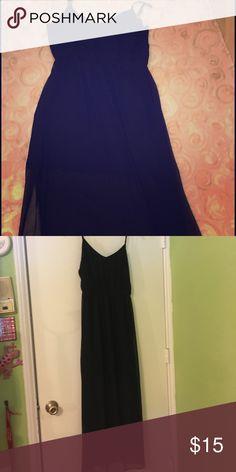 Cotton On Maxi Dress Slit leg chiffon maxi dress. Short black slip and then long sheer chiffon overlay. Cotton On Dresses Maxi