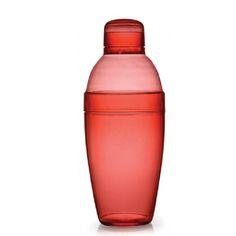 Fineline Settings 4103-RD 14 oz Plastic  Cocktail Shaker/Case of 24