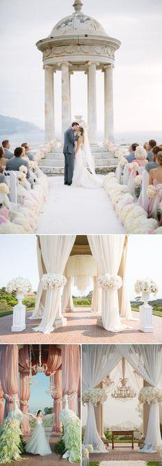 classic elegant wedding altar ideas for wedding ceremony