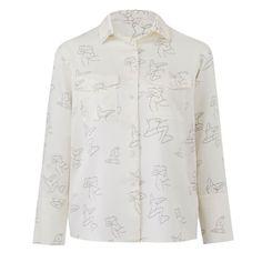 Artist Print Silk Shirt | Conflict of Ego | Wolf & Badger / Women / Clothing / Tops
