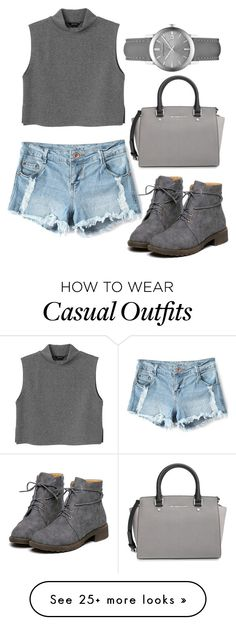 """""""casual #5"""" by jeesxx on Polyvore featuring MICHAEL Michael Kors, Monki and Burberry"""