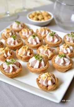 Ab oVo. Blog di ricette italiane e dal mondo: Tartellette di farro con paté di prosciutto al Marsala
