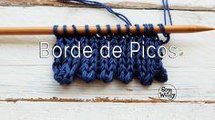 Cómo tejer BORDE de PICOS en dos agujas MUY FÁCIL y RÁPIDO...muchos videos para aprender Knitting Videos, Crochet Videos, Loom Knitting, Knitting Stitches, Knitting Patterns, Sewing Patterns, Crochet Patterns, Butterfly Stitches, Crochet Butterfly