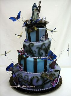 Holy crap- its the original cake we used as inspiration for our wedding cake. Love Corpse Bride.