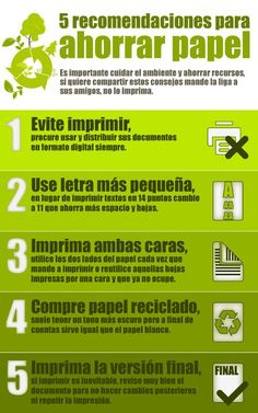 5 recomendaciones para ahorrar papel  #Sustentable