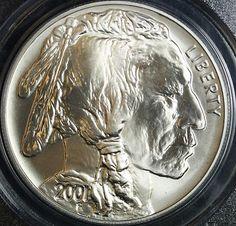 2001-D Buffalo Silver Dollar PCGS MS69 $189