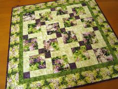Floral Table Topper by PatchworkMountain.com