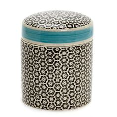 creamCarolyn Donnelly Eclectic Printed Container