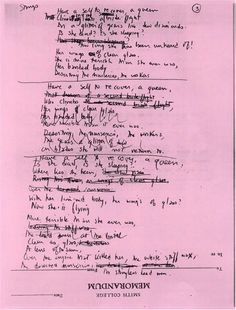 Sylvia Plath: draft