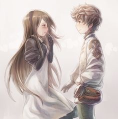 I wish I knew where I was pinning this from [(c) original artist (not mine)]<<<Bravely Default? Manga Love, I Love Anime, Geeks, Bravely Default, Anime Child, Anime Siblings, Cute Anime Couples, Game Character, Fantasy Art