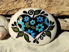 My Heart at Twilight  /  Painted Stone / Sandi Pike Foundas. via Etsy.