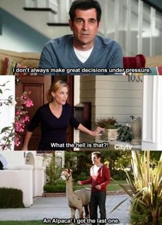 Modern Family. I don't even watch this show but I laughed so hard when I read it I had to repin it.