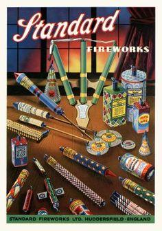 get the image for Standard Fireworks - selection in poster size Standard Fireworks, Bonfire Night, Vintage Art, Growing Up, The Selection, Vintage Fashion, Retro, Simple, Illustration
